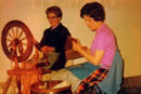 Maire O Gara and Biddy Mac Shane Spinning and Carding during the 1970's